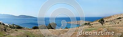 Aegean sea coastline