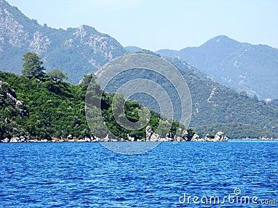 Aegean sea landscape in turkey