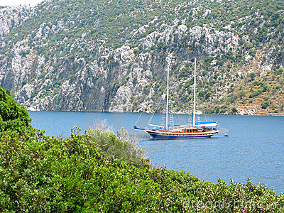 Aegean sea landscape yachting