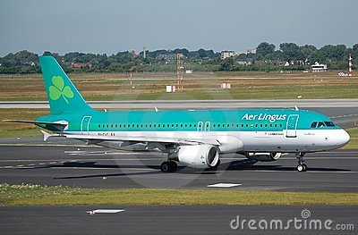 Aer Lingus Airbus 320 Editorial Stock Image