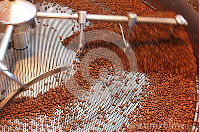 Aeration roasted coffee beans