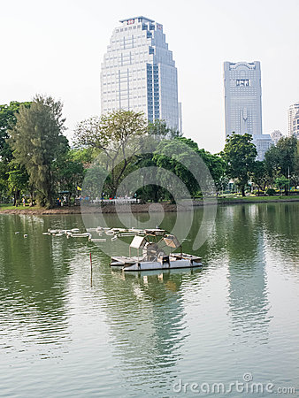 Aerator in city park