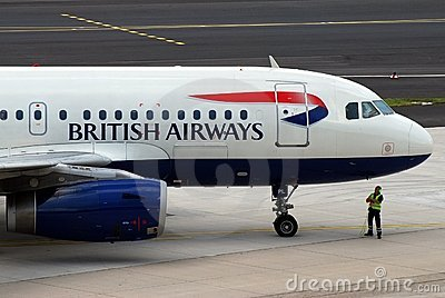 Aereo di British Airways Immagine Editoriale