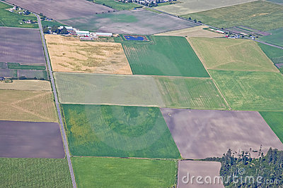 Aerial Agricultural Land