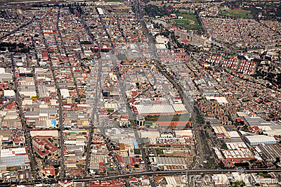 Aerial Mexico City View