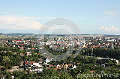 General City Aerial View of Oradea