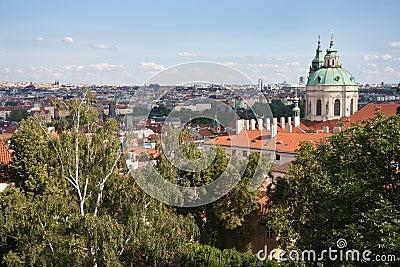 Aerial Cityscape of Praha