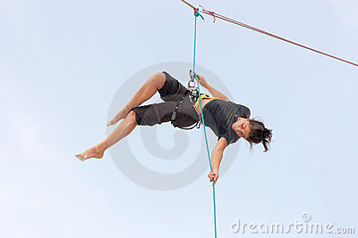 Aerial dance Editorial Stock Photo