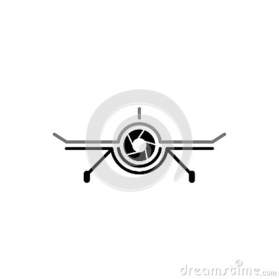 Free Aerial Drone Cam Photography Logo Design Template. Drone Camera Photography Technology Logo Vector Icon. Stock Image - 118052191
