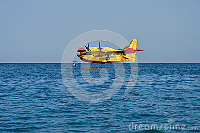 Aerial firefighting Editorial Stock Photo