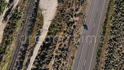 Highway 395 of California and Nevada border stock video footage
