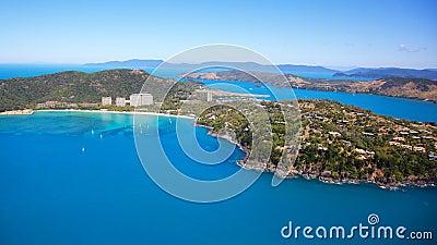 Aerial of Hamilton Island