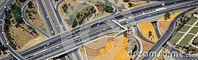 Aerial highway interchange