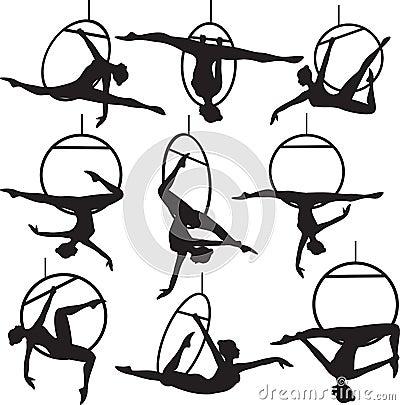 Free Aerial Hoop Acrobat Royalty Free Stock Photo - 30809795