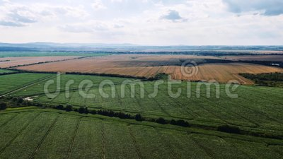 Aerial hyperlapse of beautiful countryside around Birmingham, UA. Fast moving timelapse with clouds.  stock video
