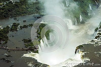 Aerial image of Iguazu Falls