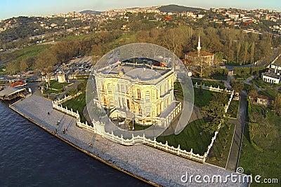 Aerial of Kucuksu in Istanbul, Turkey