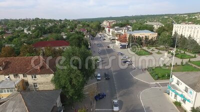 Aerial landscape from Moldova, in a summer day. Aerial landscape from Moldova, in a summer day, green stock footage