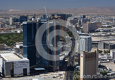 Aerial of Las Vegas Blvd Editorial Photo