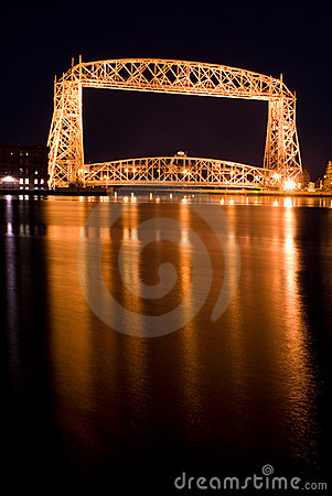 The Aerial Lift Bridge  (night)