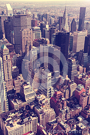 Free Aerial Manhattan Skyline Royalty Free Stock Photography - 28045267