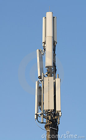 The aerial mast for mobile phones
