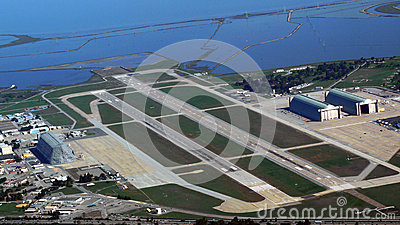 Aerial of Moffet Field Airport