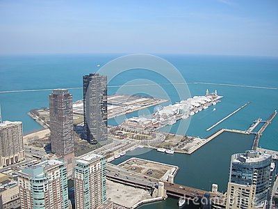 Aerial of Navy Pier