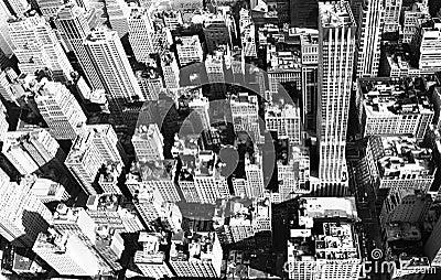 Aerial New York city Stock Photo