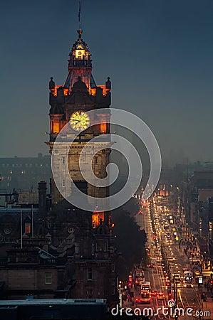 Aerial Night View Of Edinburgh Stock Photo Image 64076008