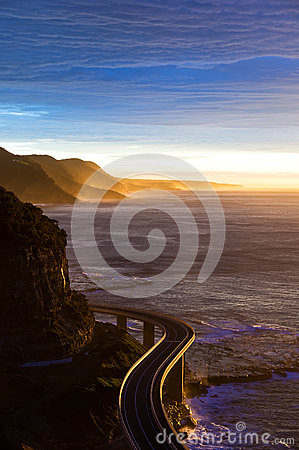 Free Aerial Of Australian Grand Pacific Drive, Sea Cliff Bridge Stock Images - 75787424