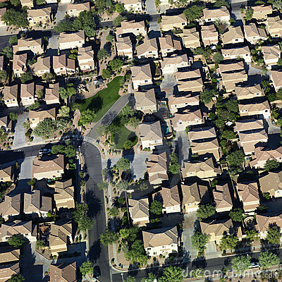 Free Aerial Of Suburbs. Stock Photography - 3469372