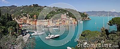 Aerial panorama of famous Portofino.