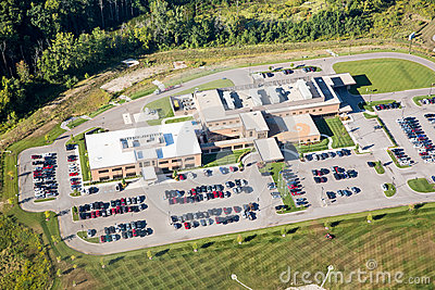Aerial photo hospital health building