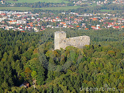 Aerial photo of medieval castle