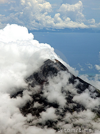 Aerial photo of Mount Mayon (Volcano)