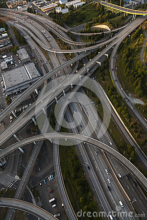 Aerial Photograph American Freeway Intersection