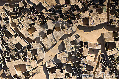 Aerial photographs of a village in Niger, Africa