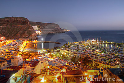 Aerial of Puerto de Mogan, Gran Canaria, Spain
