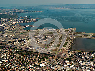 Aerial San Francisco Airport