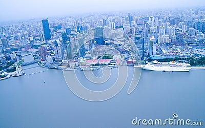 Aerial Shanghai Editorial Photography
