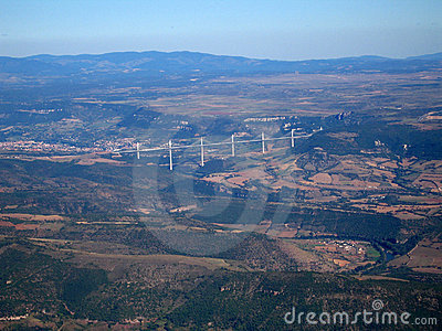 Aerial shoot of the Bridge of Millau
