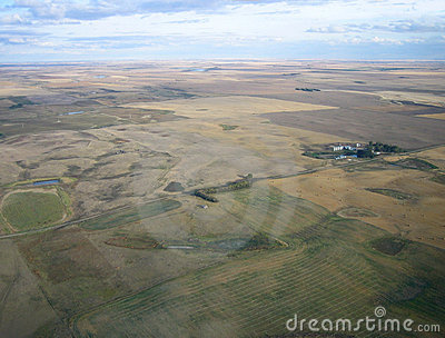 Aerial shot of Saskatchewan