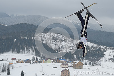 Aerial Skiing Stock Photos - Image: 29499233
