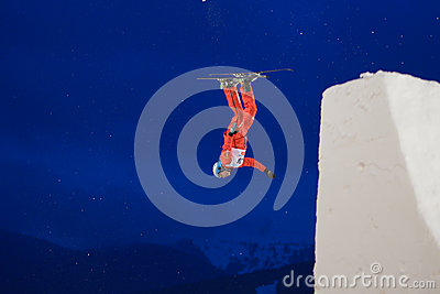 Aerial skiing Editorial Image