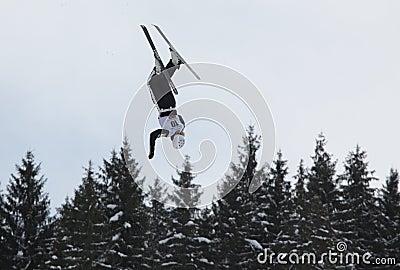 Aerial skiing Editorial Image