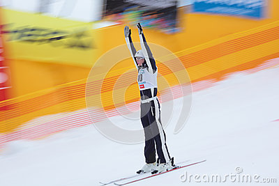 Aerial skiing Editorial Stock Photo