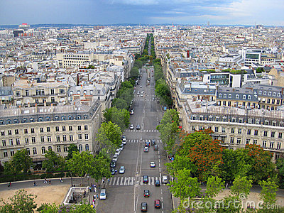 aerial street view of paris france stock photography image 17176092. Black Bedroom Furniture Sets. Home Design Ideas