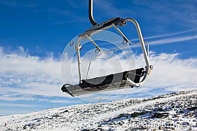 Aerial tramway in Mountain range Serra da Estrela,