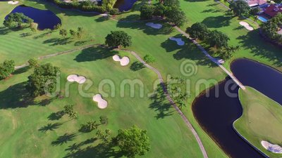 Aerial video golf course 4. Aerial video of the Diplomat Resort Golf Course in Hallandale FL USA